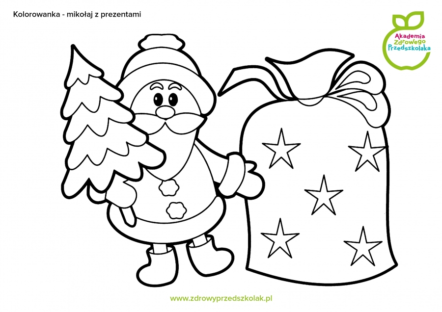 Bezpłatne kolorowanki i szablony świąteczne