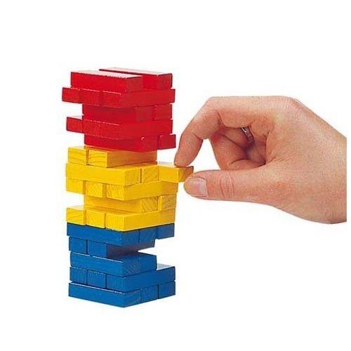 Drewniana wieża typu Jenga mała, gra zręcznościowa, Goki