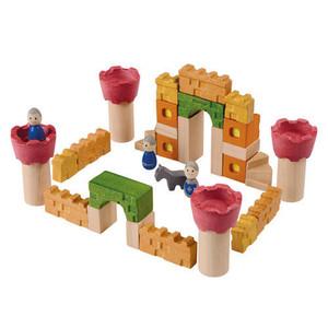 Drewniane klocki Zamek rycerski, Plan Toys