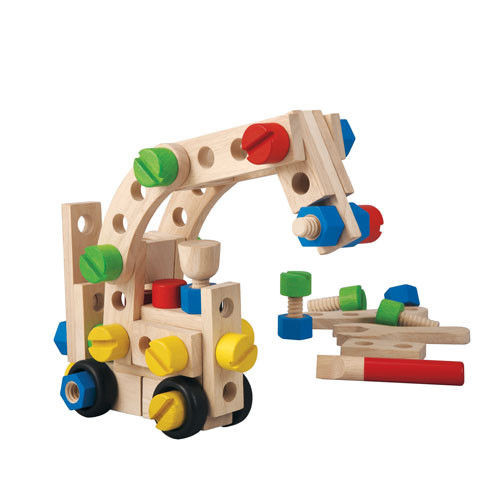 Zestaw konstrukcyjny 60 części, Plan Toys